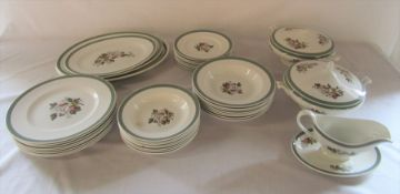 Quantity of Simpsons Potters Ltd 'Hastings' pattern dinner service