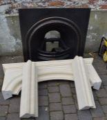 Cast iron & stone effect fireplace