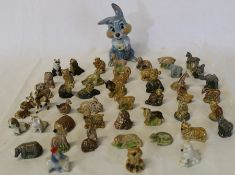 Selection of Wade Whimsies including Flintstones sabre tooth tiger and Disney Wade blow up Thumper