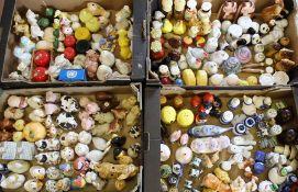 Large quantity (4 boxes) of novelty salt and pepper pots inc. Bonzo