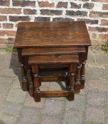 Dark oak nest of tables