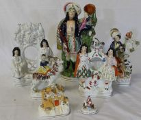 Selection of Staffordshire figures (a/f)