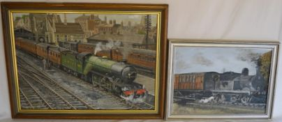 Paul Twine (1930 -2000) oil on board of Lincoln LNER at Lincoln Central 28th April 1941 & painted in