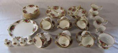 Royal Albert 'Old Country Roses' part tea service consisting of milk jugs, sugar bowls, 2 cake