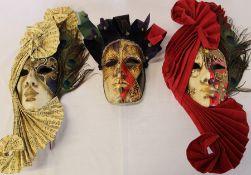 3 authentic Venetian masks