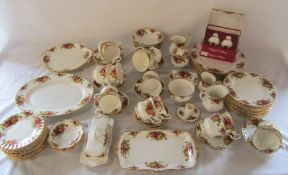 Quantity of Royal Albert 'Old Country Roses' tea / coffee set etc approximately 80 pieces inc