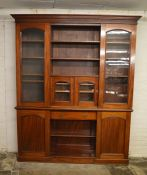 Large mahogany Victorian bookcase 237 cm x 190 cm (in 2 sections)