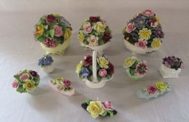Selection of china flower posies inc Aynsley