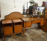 Matching dressing table, bed head, 2 bedside cabinets & additional dressing table mirror