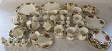 Royal Albert 'Old Country Roses' part dinner / tea service consisting of cake stands, milk jugs,