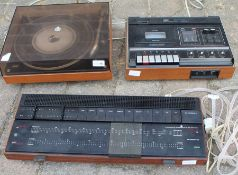 Bang & Olufsen record player, amplifier and tape deck (not B & O) - not for use, parts and spares
