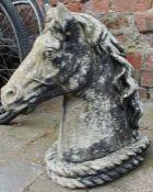 Concrete horses head