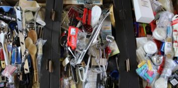 3 boxes of kitchen utensils, some vintage, some boxed, most unused