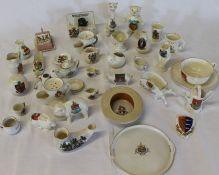 """Selection of crested china including Luton straw boater & City of Cardiff """"Keep the Home Fires"""