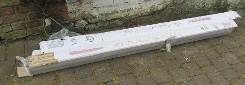 2 packets of Bausen solid hardwood flooring in white oak (one plank missing)