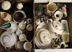 2 boxes of miscellaneous ceramics