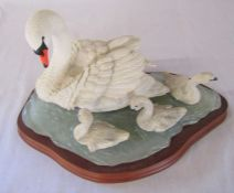 Border Fine Arts 'Graceful Swans' by Russell Willis L 35 cm