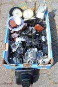Quantity of vintage cameras etc.