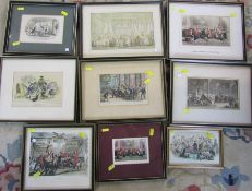Quantity of assorted engravings etc