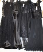 4 ladies new black dresses including NOX (sizes 14, 16, XL, 4XL)