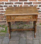 Oak side table (side section split)