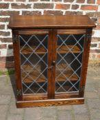 Small oak display cabinet