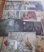 Assorted unframed oils on canvas by S Scott-Bell