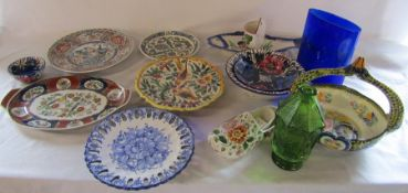 Various ceramics and glassware inc Delft (2 boxes)
