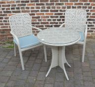 Hartman patio table & two chairs