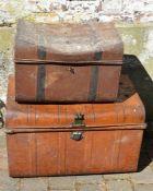 2 old tin trunks (AF)