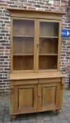 Victorian pine display bookcase