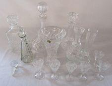 Various glassware inc decanters