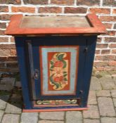 French painted wall cupboard