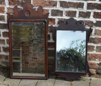 2 Georgian Chippendale style wall mirrors