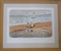 Mary Beresford Williams (b.1931 Cornish School) limited edition print 16/70 entitled 'The Family'