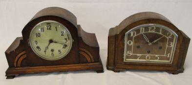 2 1930s Westminster chime mantel clocks