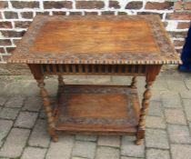 Gypsy style occasional table 79 cm x 52 cm H 71 cm