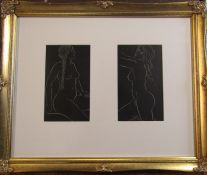 Eric Gill (1882-1940) Pair of nude engravings from 25 nudes published by J M Dent & Sons Limited