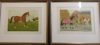 2 limited edition horse racing lithographs by Vincent Haddelsey (1934-2010) - 42/50 on velin d'