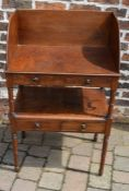 Georgian mahogany washstand with added top