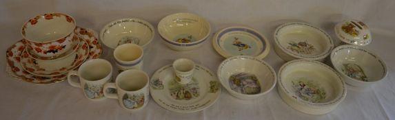 12 pieces of Wedgwood Beatrix Potter & other ceramics