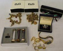 2 Dolce & Gabbana necklaces, pair of Bvlgari glasses, Swarovski crystal set etc.