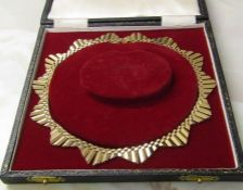 Tested as 9ct gold choker necklace length 40 cm weight 35 g