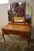 Mahogany dressing table on cabriole legs