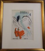 Marc Chagall (1887-1985) lithographic print Kunsthalle Bern published in 1959 lithography by Fernand