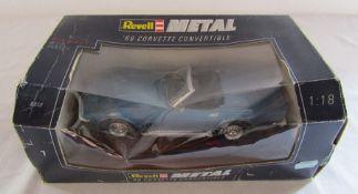 Revell metal '60 Corvette Convertible 1:18 die cast car
