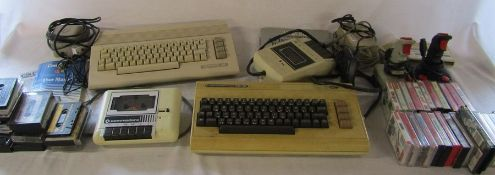 Commodore 64 computer with approximately 45 games, joysticks, cassette deck and a Commodore Vic 20