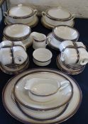 Paragon China Sandringham part dinner service approximately 56 pieces (1 gravy boat, 1 oval bowl,