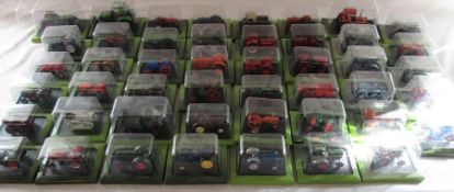 Approximately 48 Hachette die cast model tractors all in original packaging