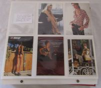 Album of approximately 560 postcards relating to adverts, lingerie and adult glamour from the 1980/